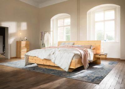 Paso Doppelbett in Zirbe - naturgeölt