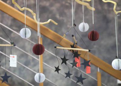 Weihnachtsanhänger, Kugel und Sterne