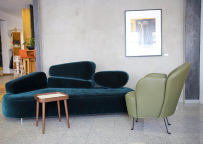 Brühl Mosspink Sofa und Floret Sessel