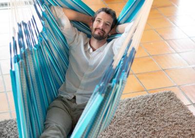 Habana Azure Hängesessel Kingsize aus Bio-Baumwolle